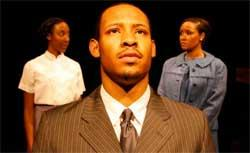 (l-r) Marvelyn McFarlane, Jonathan L. Dent  and Kris Sidbury) in Company One production of The Good Negro