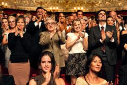 """Judy Davis, Woody Allen, Alison Pill and Flavio Parenti in """"To Rome WIth Love"""""""