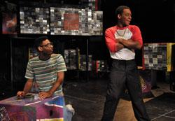 """Kadahj Bennett and Jared Brown in 'How We Got On,"""" continuing through Aug. 17 at the BCA"""