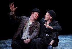 """Gary Lydon and Conor Lovett in 'Waiting for Godot,"""" continuing through Nov. 10 at the Paramount Mainstage"""