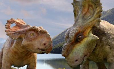 A scene from 'Walking with Dinosaurs'