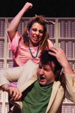"""Lauren Elias and Robert Orzalli star in """"Laughing Wild"""" continuing through Aug. 1 at Club Cafe"""