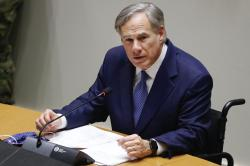 In this Tuesday, June 20, 2020 file photo, Texas Gov. Greg Abbott speaks at a news conference at city hall in Dallas