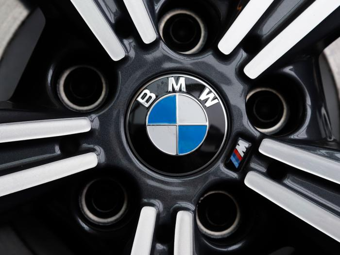 In this Feb.13, 2020 file photo, a wheel on a BMW car is on display at the 2020 Pittsburgh International Auto Show