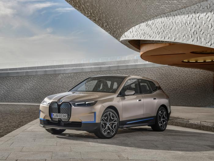 This handout photo provide by BMW carmaker on Nov. 11, 2020 shows the new electric car of the company. the BMW iX