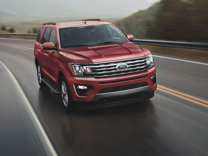 This undated photo from Ford shows the 2021 Ford Expedition, a large SUV that has been ranked No. 1 by Edmunds for the past couple of years