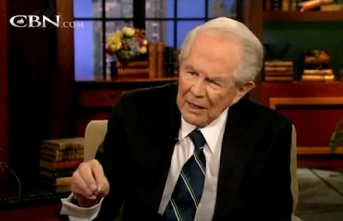 """Pat Robertson on """"The 700 Club"""" in 2013"""