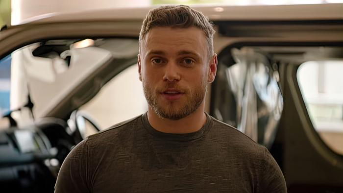 Gus Kenworthy in his 'Freestyle with Gus Kenworthy' video for NBC.