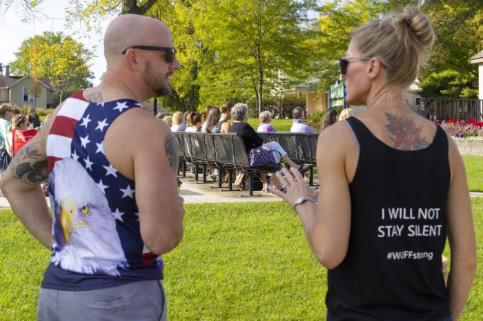 People attend the Chiropractic Society Health Freedom revival Sunday, Sept. 19, 2021 in Oconomowoc, Wis.