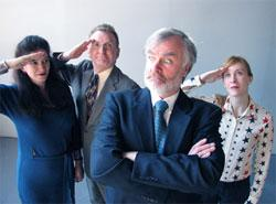 """Some members of the cast of Theatre on Fire's production of """"7 Blowjobs."""""""