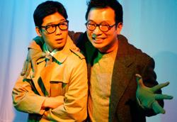 """""""Superfrog Saves Tokyo:"""" Martin Lee and Michael Tow star in """"After the Quake,"""" playing at the BCA through August 15"""