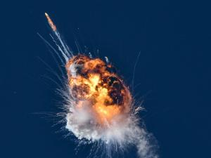 Rocket 'Terminated' in Fiery Explosion Over Pacific Ocean